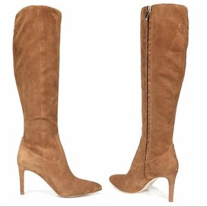 Sam Edelman Olencia Suede Knee High Boots 4 Tan